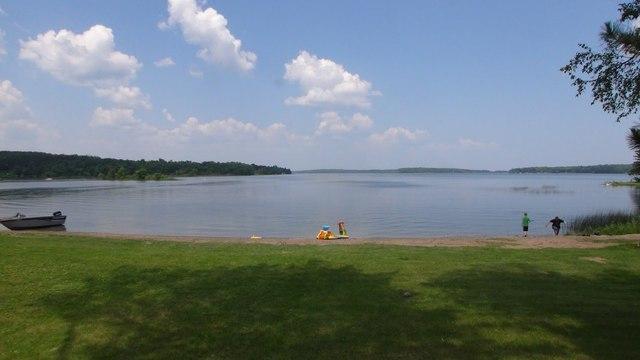 View of lake at BlueWater Lodge.
