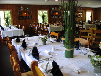 Dining room at Lost Lake Lodge.