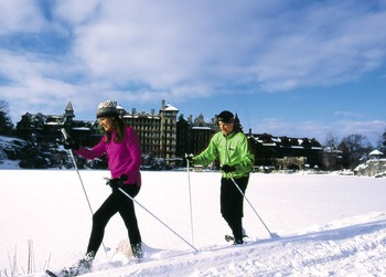 Skiing at Mohonk Mountain House.