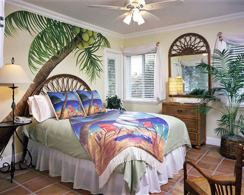 Guest room at Crane's Beachhouse.