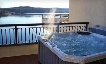 Jacuzzi balcony at D' Monaco Luxury Resort.