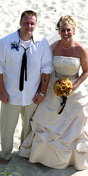 Wedding Couple at Ocean Isle Inn