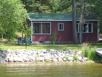 Cabin exterior at Two Inlets Resort.