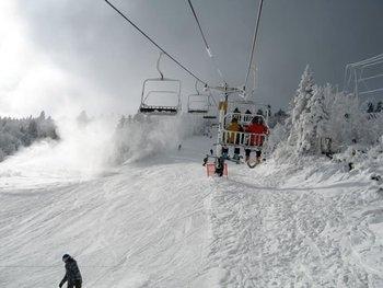 Ski lifts at Birch Ridge Inn.