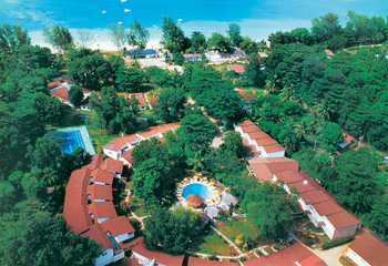 Aerial view of Berjaya Praslin Beach Resort.