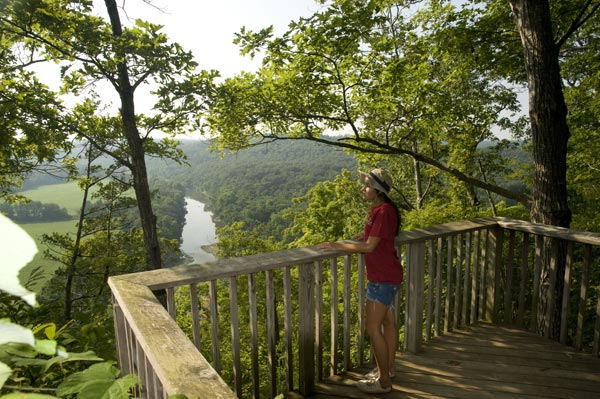 Deck view at Buffalo River Outfitters.