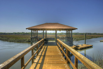 Fishing dock at Hodnett Cooper.