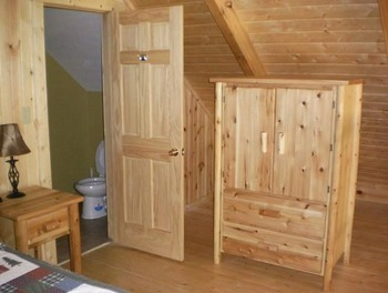 Cabin Bedroom at Harman's Luxury Cabins