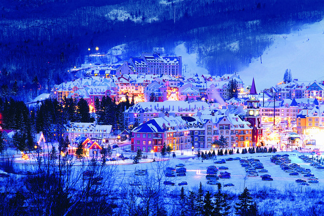 Aerial view of Fairmont Tremblant Resort.