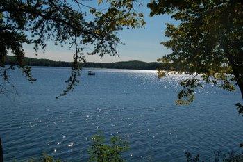 View of lake from Kavanaugh's Sylvan Lake Resort.
