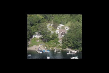 Aerial view of Cool Ledge Family Resort.