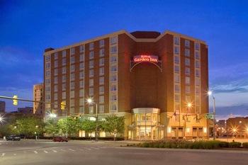 Exterior view of Hilton Garden Inn Detroit Downtown.