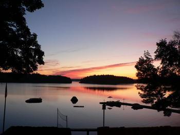 Beautiful sunset view at Shamrock Lodge.