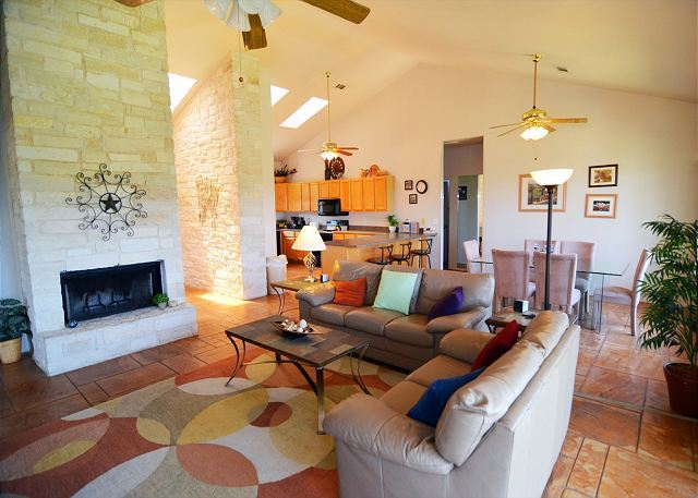 Rental living room at Lake Travis & Co.