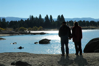 Our favorite walk together along Lake Cascade.  So romantic.