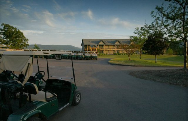 Resort From Golf Course at Bristol Harbour Resort