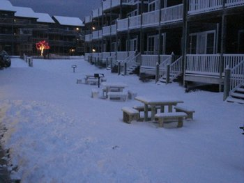 Winter time at Harbor Lights Resort.