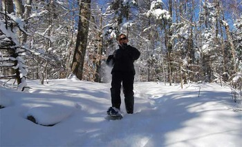 Snowshoeing at Steele Hill Resort.