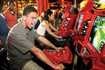 Video arcade at Palace Entertainment.
