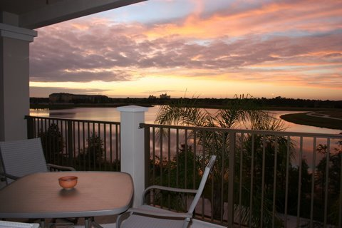 Sunset from Balcony of Florida Condos 4 Rent