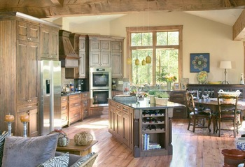 Vacation rental kitchen at Key To The Rockies Lodging Company.
