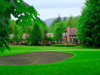 Golf course at Whispering Woods Resort.