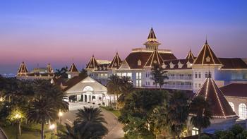 Exterior view of Hong Kong Disneyland.