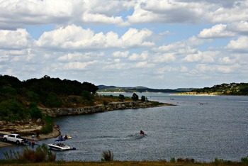 Lake view at SkyRun Vacation Rentals - Texas Hill Country.
