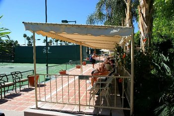 Tennis court at Palm Springs Tennis Club.