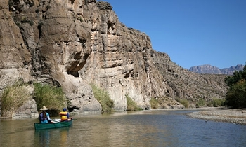 Canoeing at Big Bend Overland Tours