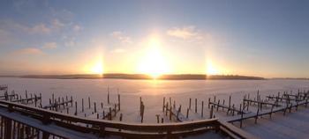 Sunrise at River Bend Resort.