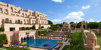 Exterior view of Amarvilas - An Oberoi Resort.