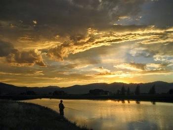 Fishing at Teton Springs Lodge.
