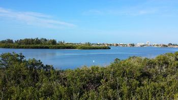 View of island at Gulf Strand Resort.