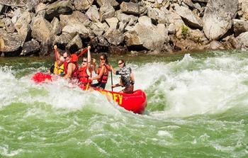 Rafting near Obertal Inn.