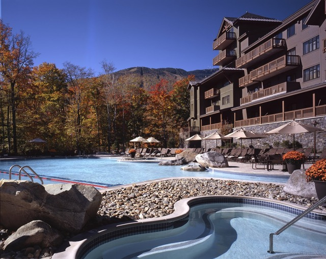 Outdoor pool at Stowe Mountain Lodge.