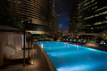 Outdoor pool at Conrad Hong Kong.