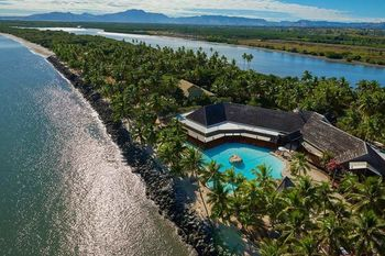 Aerial view of Sonaisali Island Resort.