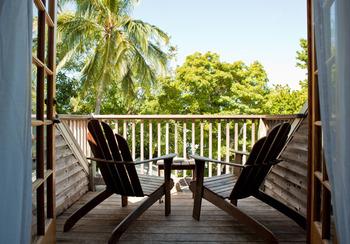 Balcony view at Island City House Hotel.