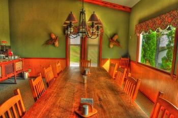 Dining area at Deer Creek Lodge.