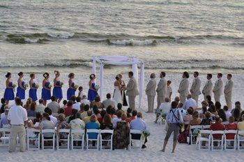 Wedding ceremony at Seascape Resort.
