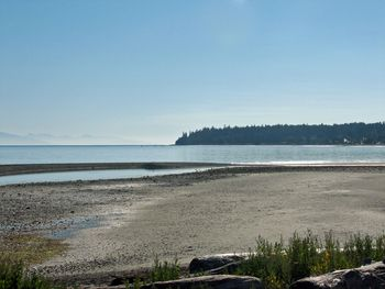View of the beach at The Shorewater Resort.