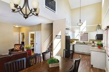 Cottage kitchen area at Arrowwood Resort.
