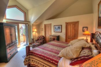 Vacation rental bedroom at SkyRun Vacation Rentals - Steamboat Springs, Colorado.