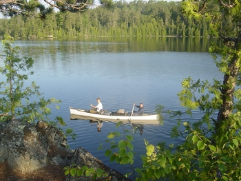 Lake canoeing at Minnesota Resort & Campground.