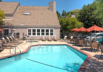 Outdoor pool at Residence Inn Palo Alto Mountain View.