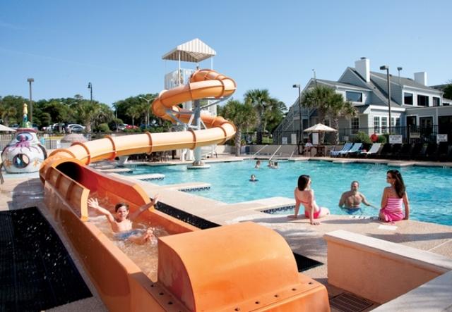 Water slide at Caribbean Resort & Villas.