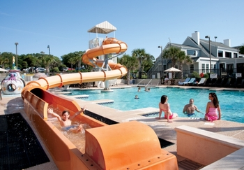 Water slide at Caribbean Resort & Villas.