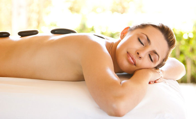 Stone massage at Old Orchard Inn & Spa.