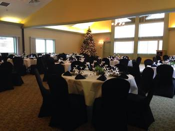 Wedding reception at Banff Rocky Mountain Resort.